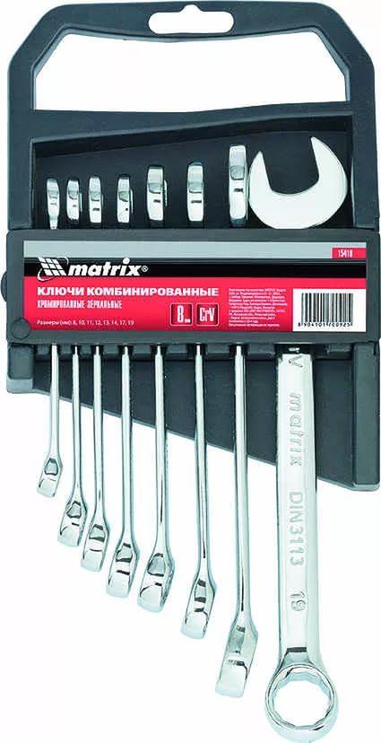 Ключ гаечный Matrix 15418 (8 - 19 мм) накидной ключ 16х17 мм matrix professional 14505
