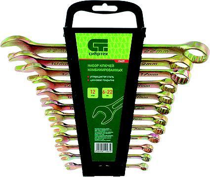 Набор ключей СИБРТЕХ 15439 (6 - 22 мм) набор ключей сибртех 15220 6 19 мм