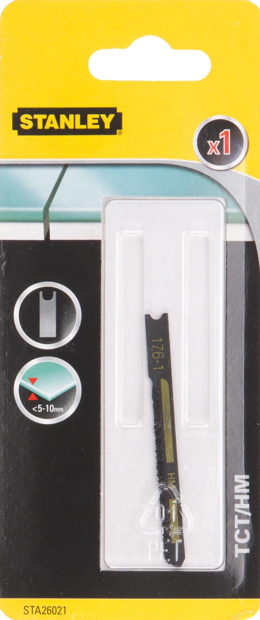 Пилки для лобзика Stanley Sta26021-xj пилки для лобзика по металлу для прямых пропилов bosch t118a 1 3 мм 5 шт