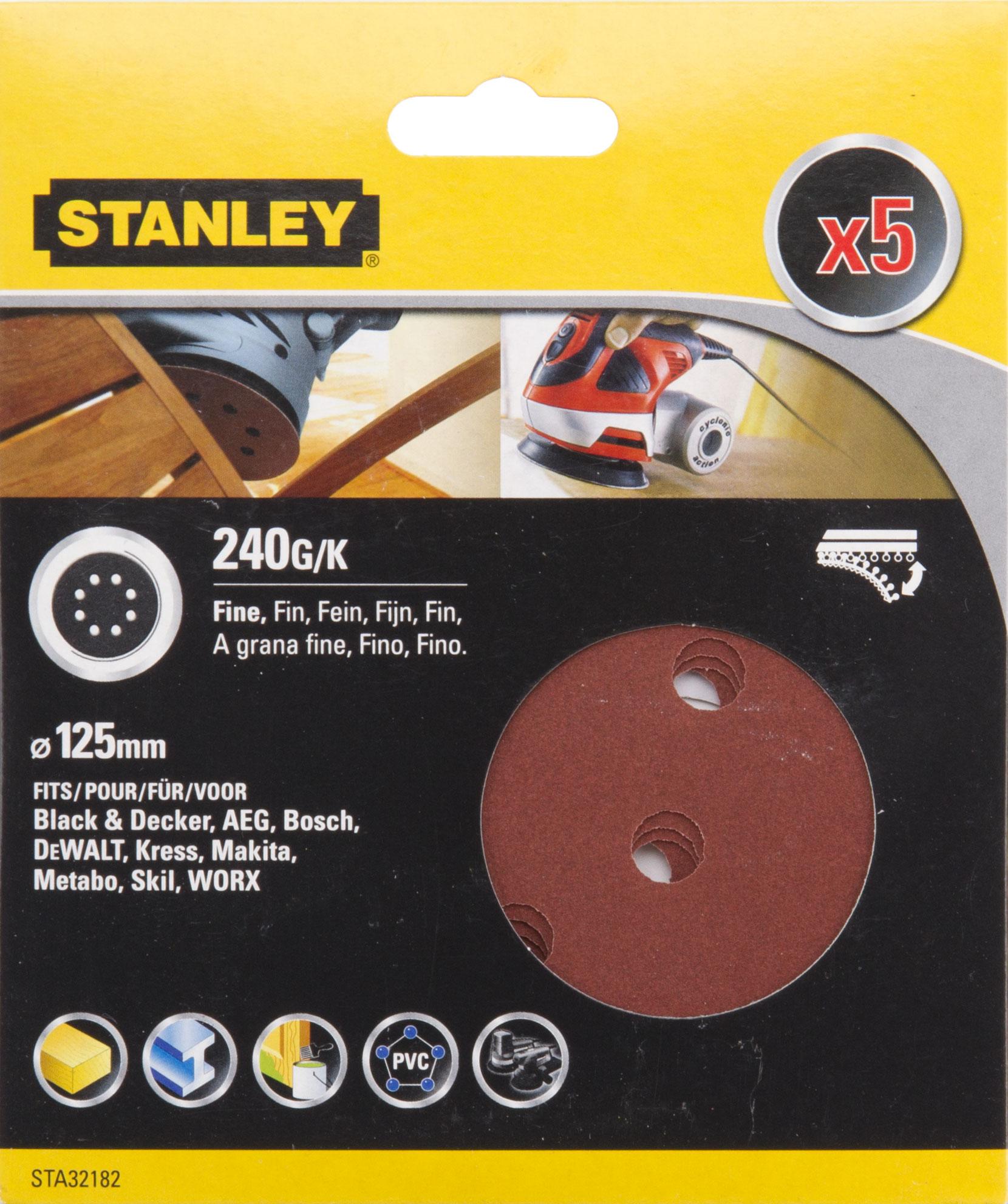 Цеплялка (для ЭШМ) Stanley Sta32182-xj цеплялка для эшм hammer flex 125 мм 8 отв р 240 5шт