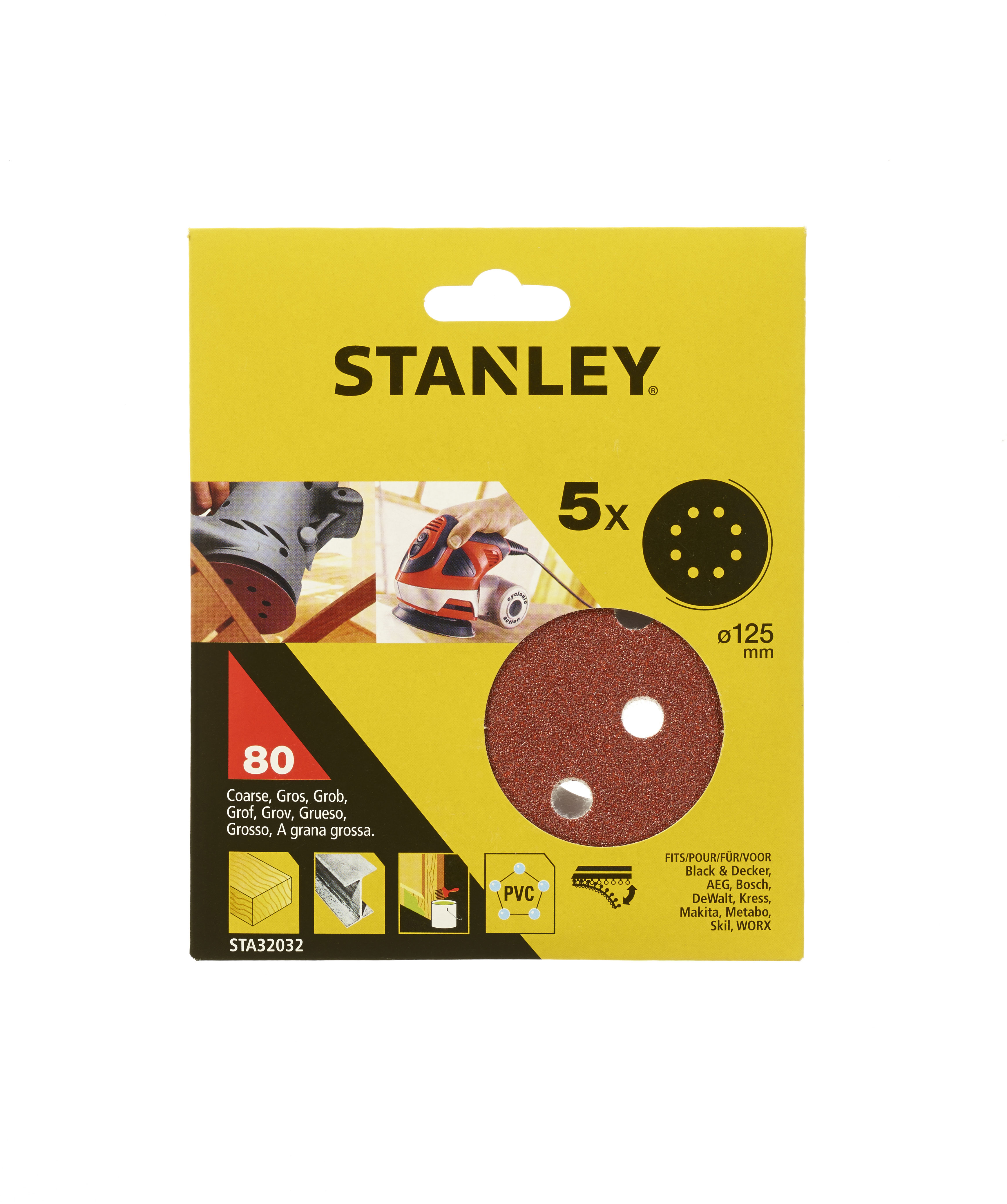 Круг шлиф. самосцепляющийся Stanley 125мм p80 8отв. снпч epson stylus dx5050