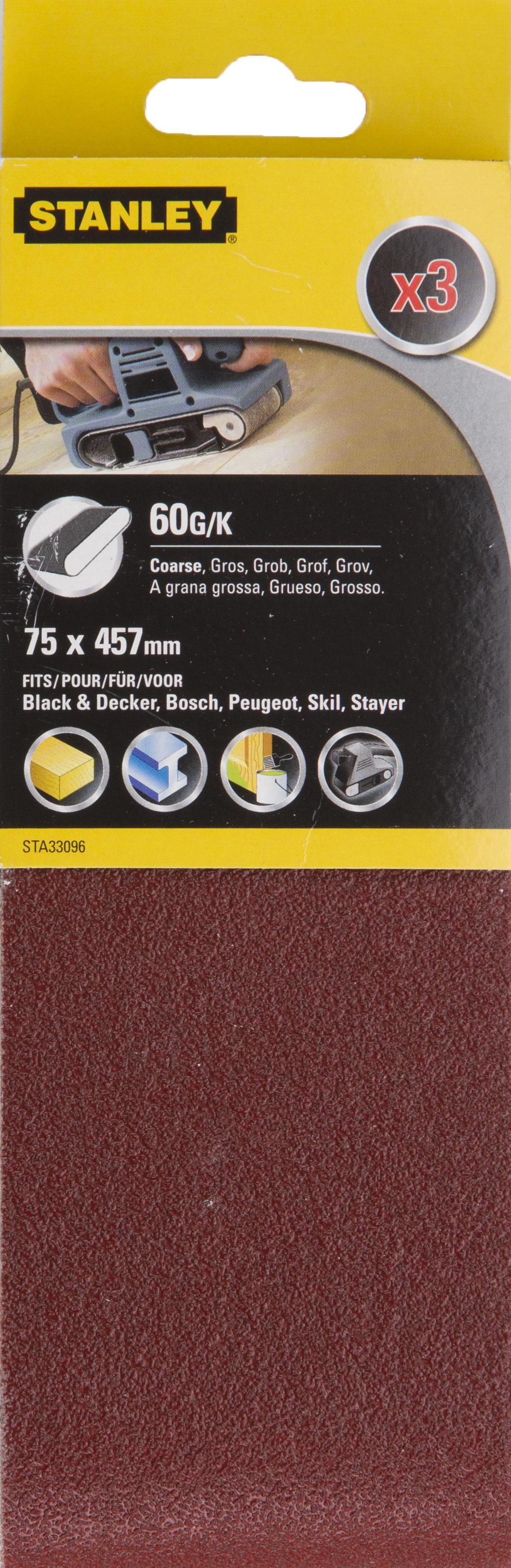 Лента шлифовальная бесконечная Stanley Sta33096-xj лента шлифовальная бесконечная stanley sta33451 xj