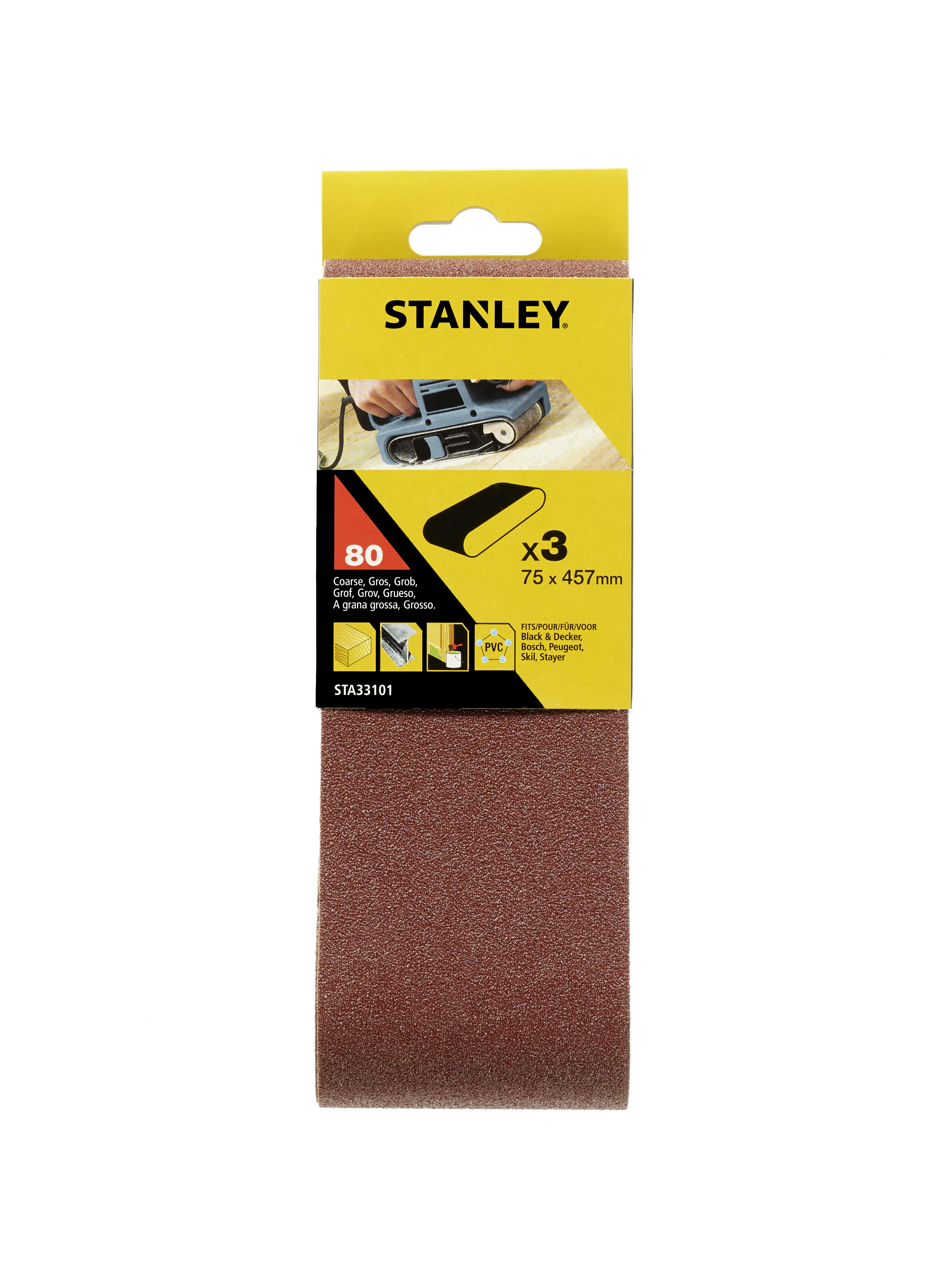 Купить Лента шлиф. бесконечная Stanley 75х457мм p80