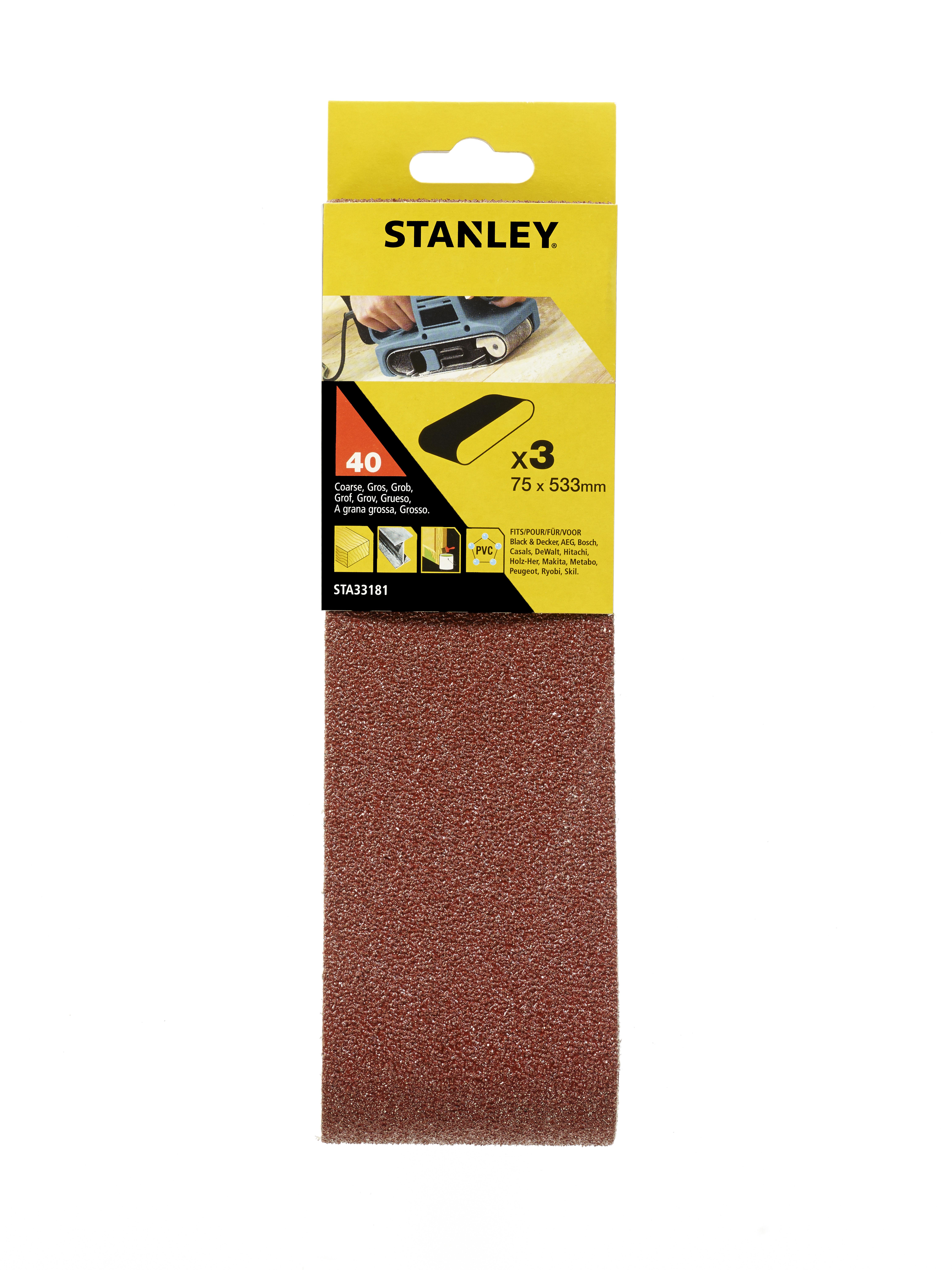 Купить Лента шлиф. бесконечная Stanley 75х533мм p40