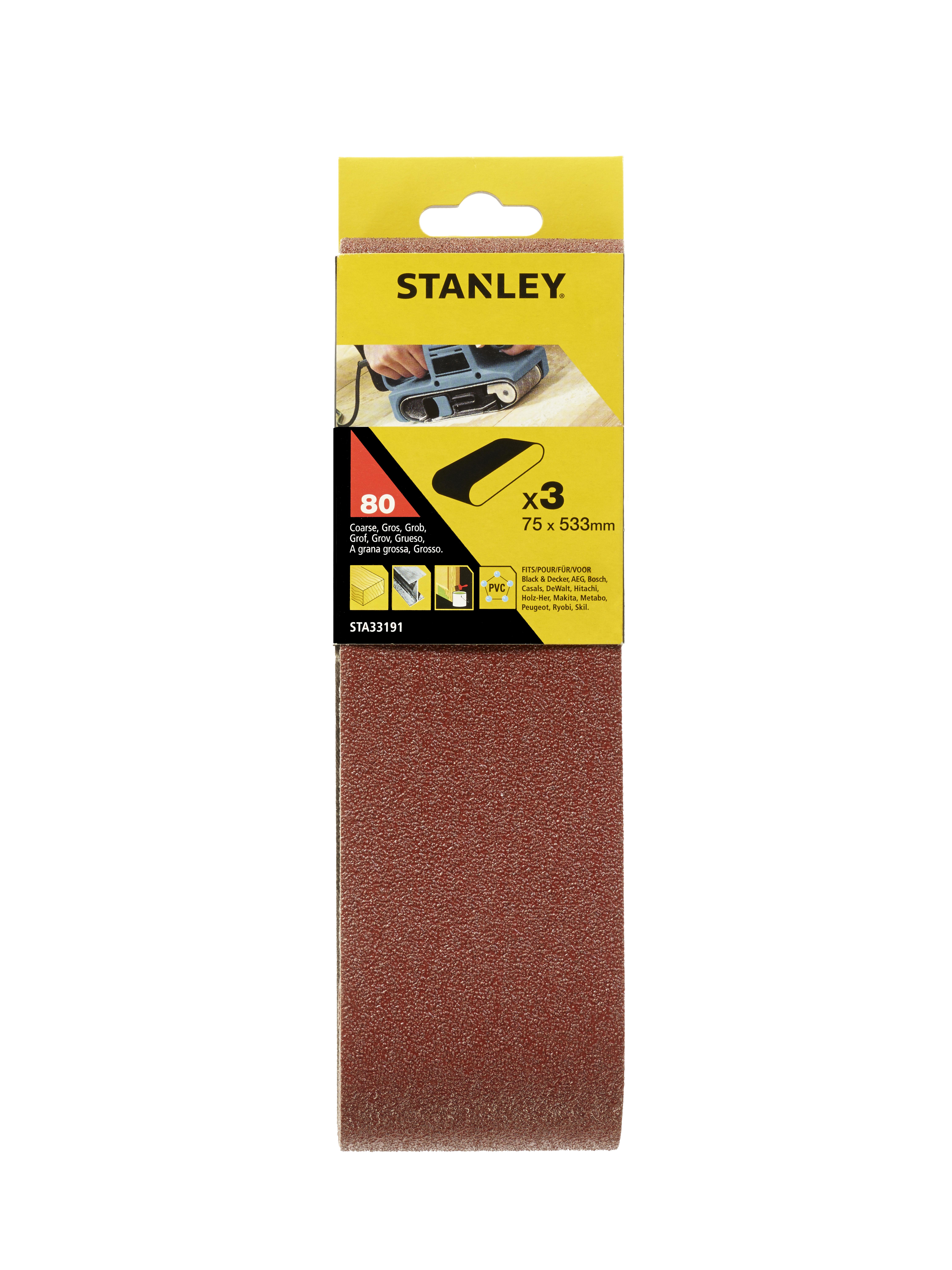 Купить Лента шлиф. бесконечная Stanley 75х533мм p80
