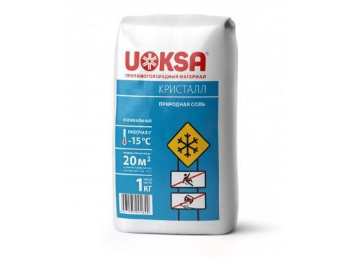 Противогололедный материал UOKSA КрИстал -15C 1кг