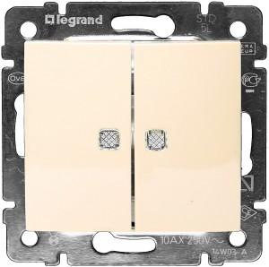 Механизм выключателя Legrand 39898 механизм выключателя legrand etika белый 2 клавишный 672202