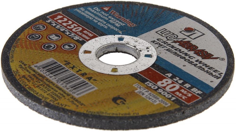 Круг зачистной ЛУГА-АБРАЗИВ 230  Х 6 Х 22 А24 premium металл круг отрезной hitachi а24 230 х 2 5 х 22 по металлу 25шт