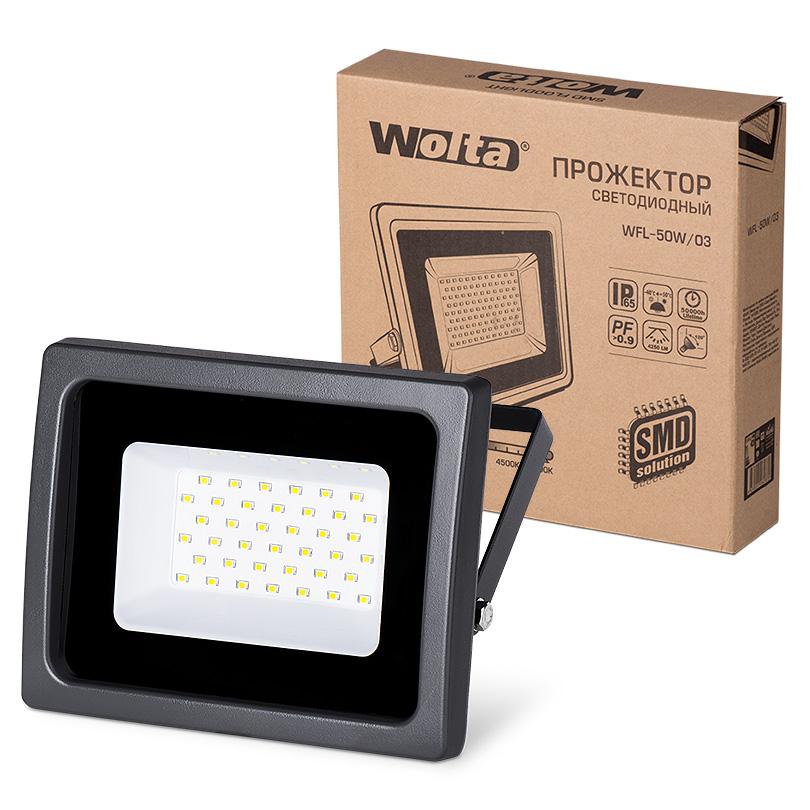 Прожектор светодиодный Wolta Wfl-50w/03