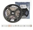 Лента светодиодная VOLPE ULS-Q911 5050-30LED/m-8mm-IP20-DC12V-7.2W/m-5M-RGB