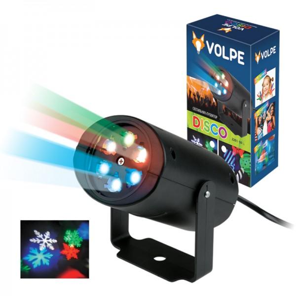 Световая система Volpe Uli-q306 4w/rgb black snowflake цены