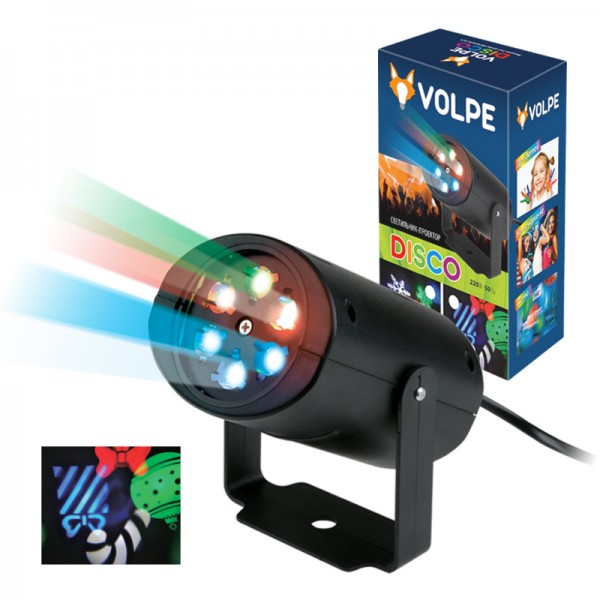 Световая система Volpe Uli-q306 4w/rgb black xmas цены