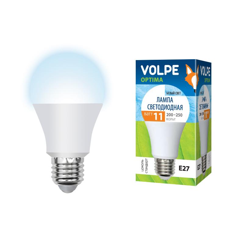 Лампа светодиодная Volpe Led-a60-11w/nw/e27/fr/o