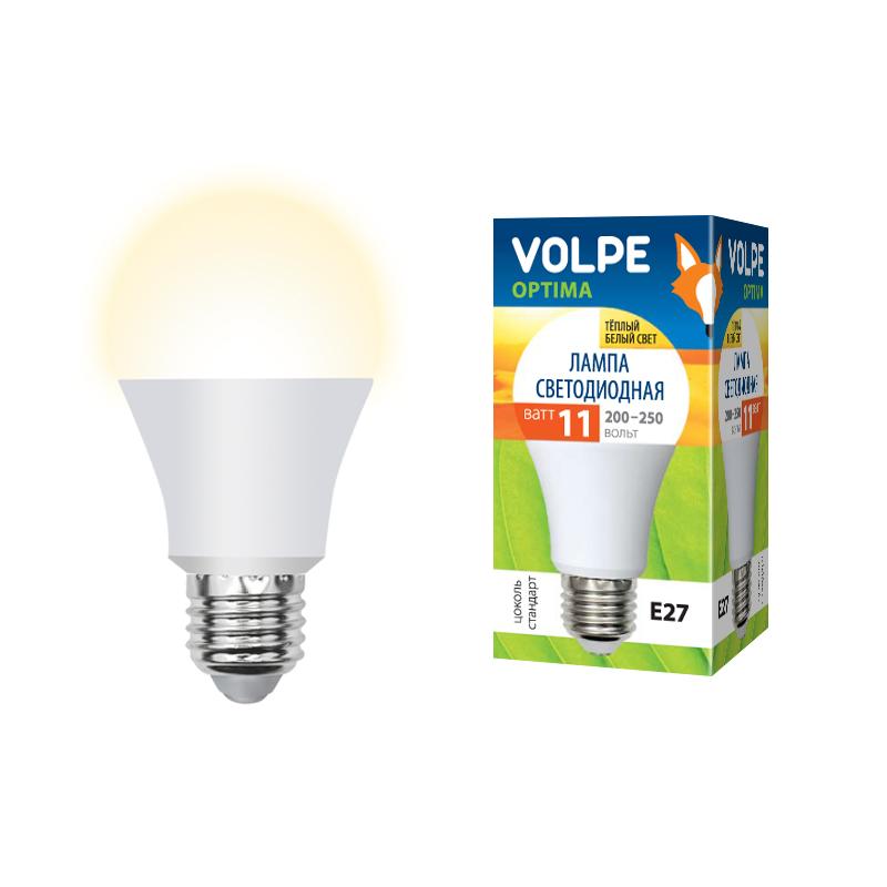 Лампа светодиодная Volpe Volpe led-a60-11w/ww/e27/fr/o лампа светодиодная uniel led a60 11w ww e27 fr dim plp01wh
