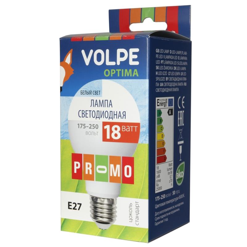 Лампа светодиодная Volpe Led-a65-18w/nw/e27/fr/o