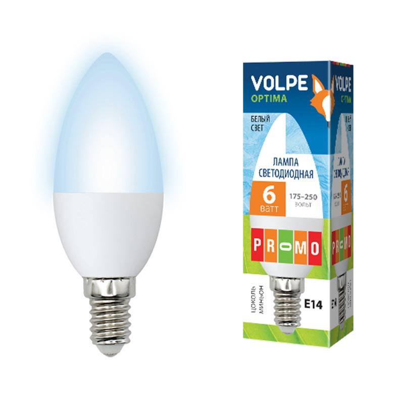 Лампа светодиодная Volpe Led-c37-6w/dw/e27/fr/o