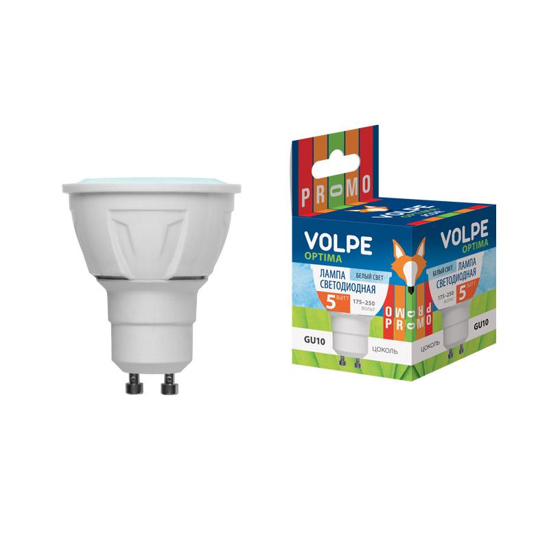Лампа светодиодная Volpe Led-jcdr-5w/nw/gu10/o лампа светодиодная 07912 gu5 3 5w 3000k jcdr матовая led jcdr 5w ww gu5 3 fr alp01wh
