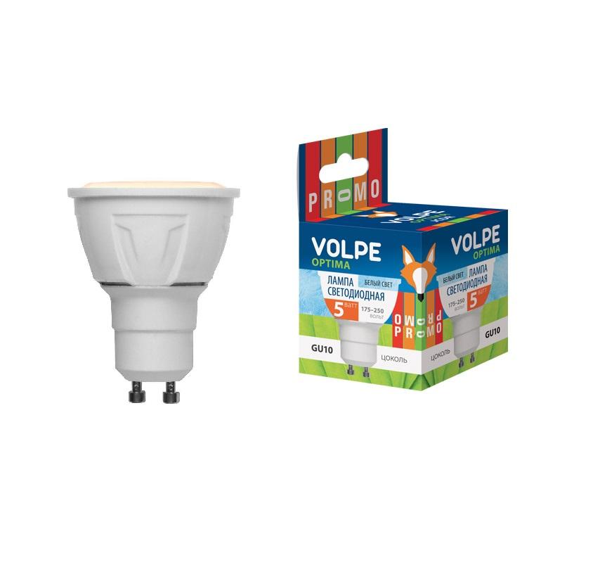 Лампа светодиодная Volpe Volpe led-jcdr-5w/ww/gu10/o goodeck лампа светодиодная goodeck рефлекторная матовая gu10 5 5w 4100k gl1007024206