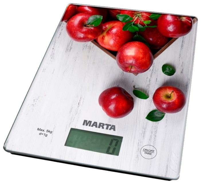 Весы кухонные Marta Mt-1634 яблоневый сад