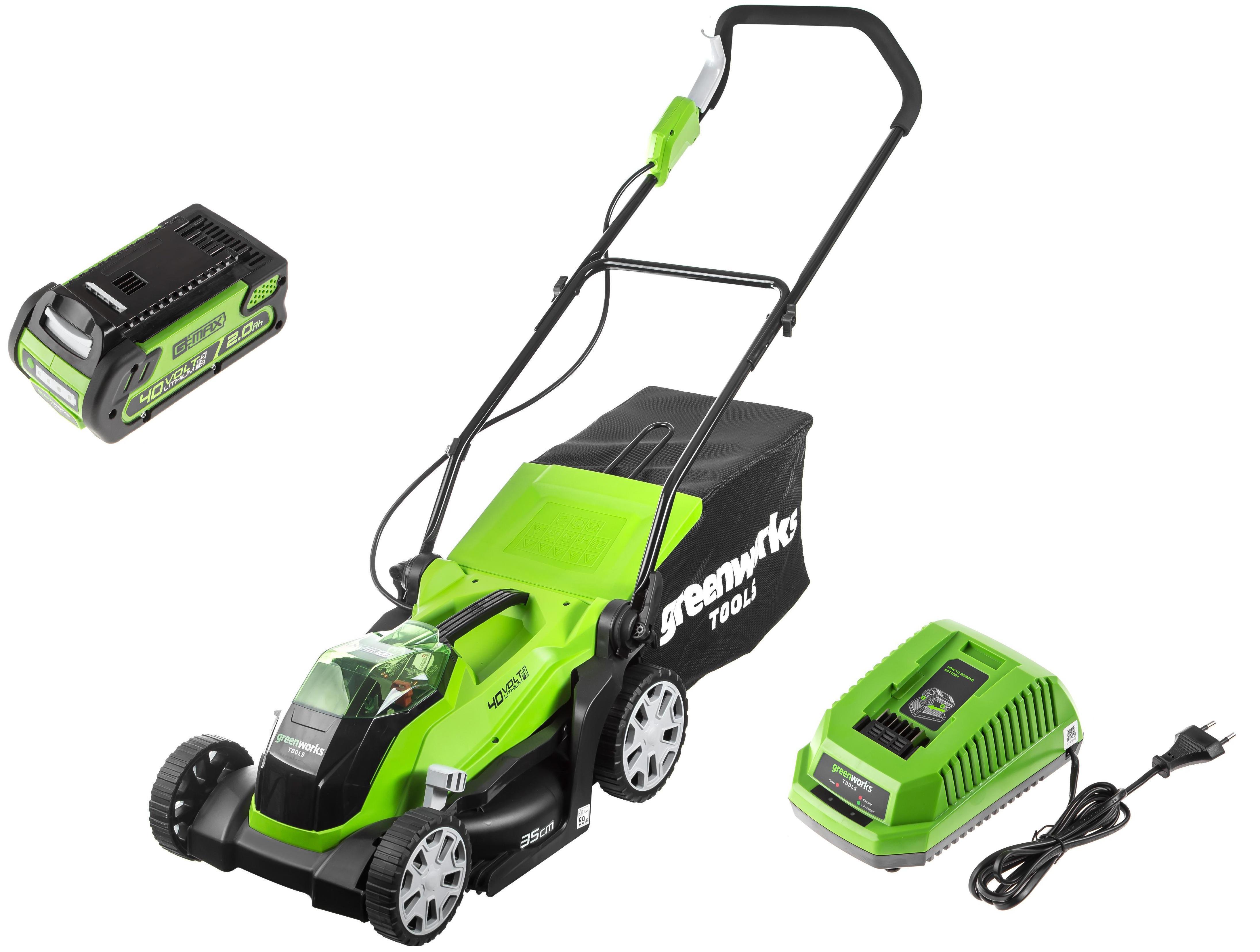 Аккумуляторная газонокосилка Greenworks G40lm35k2x (2501907ua) 1х40В 2Ач ЗУ
