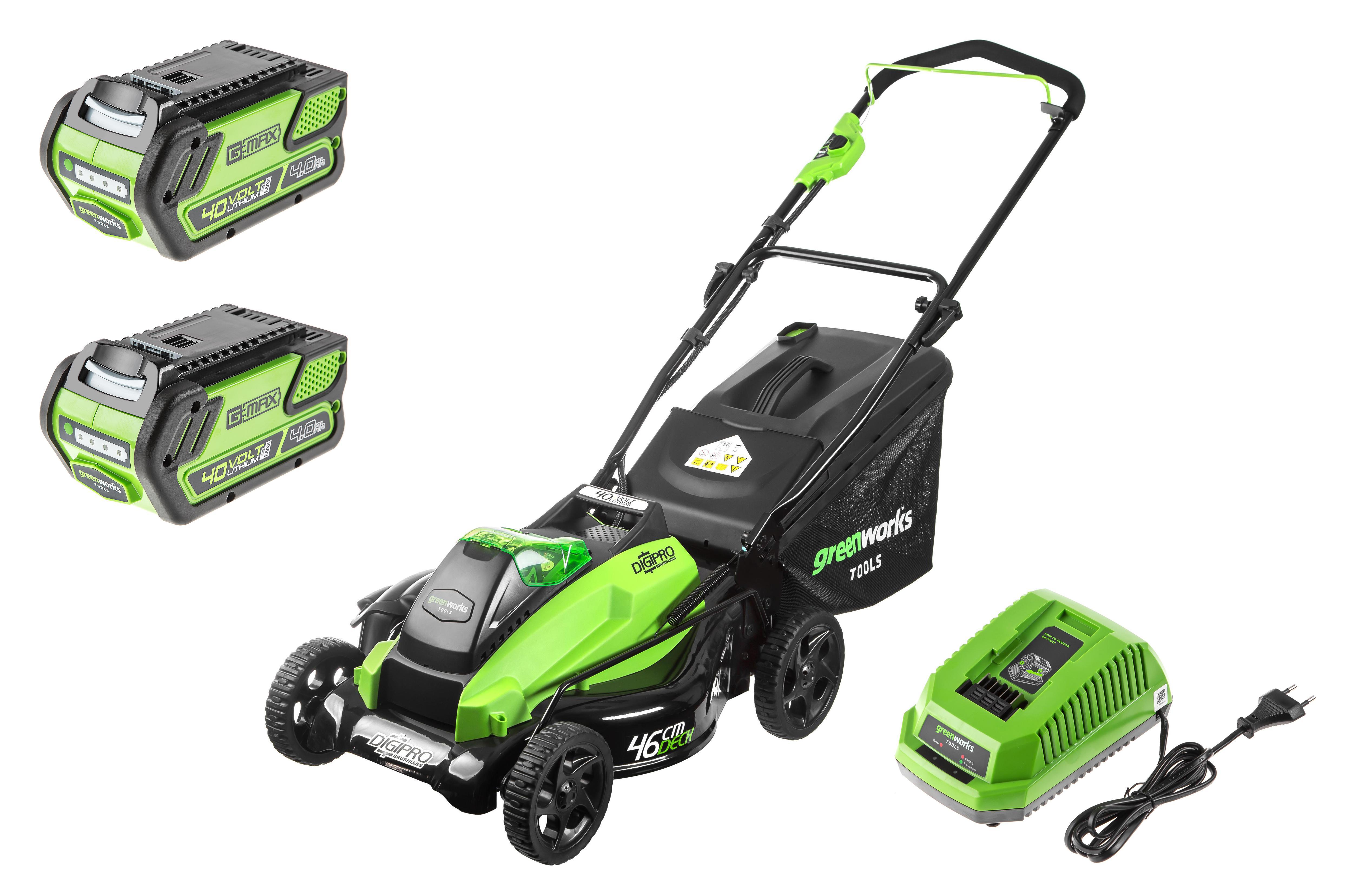Аккумуляторная газонокосилка Greenworks Gd40lm45k4 (2500407ub) 1акк 40В 4Ач + ЗУ