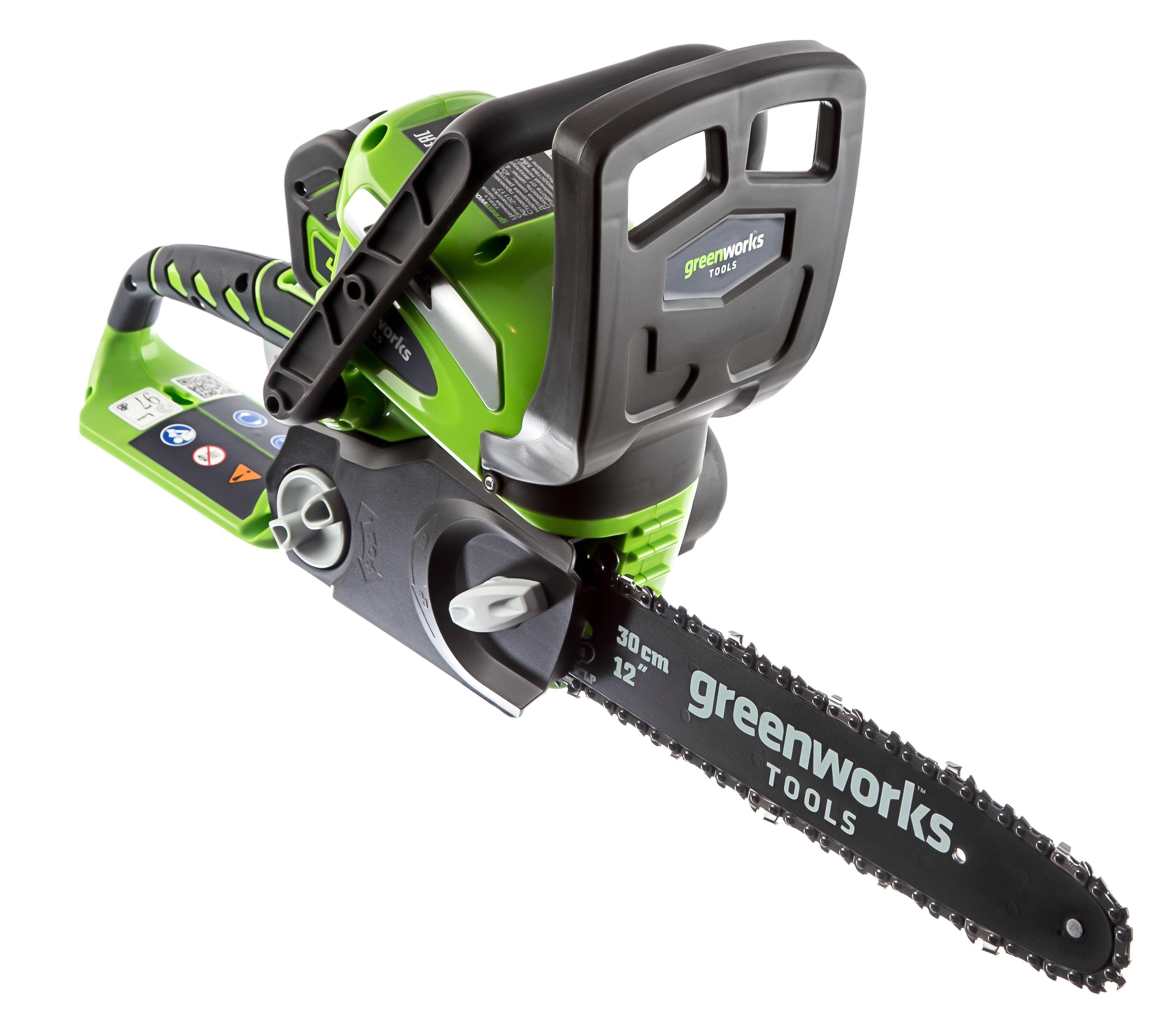 Пила цепная аккумуляторная Greenworks G40cs30k2 (20117ua) 1акк 40В 2Ач + ЗУ