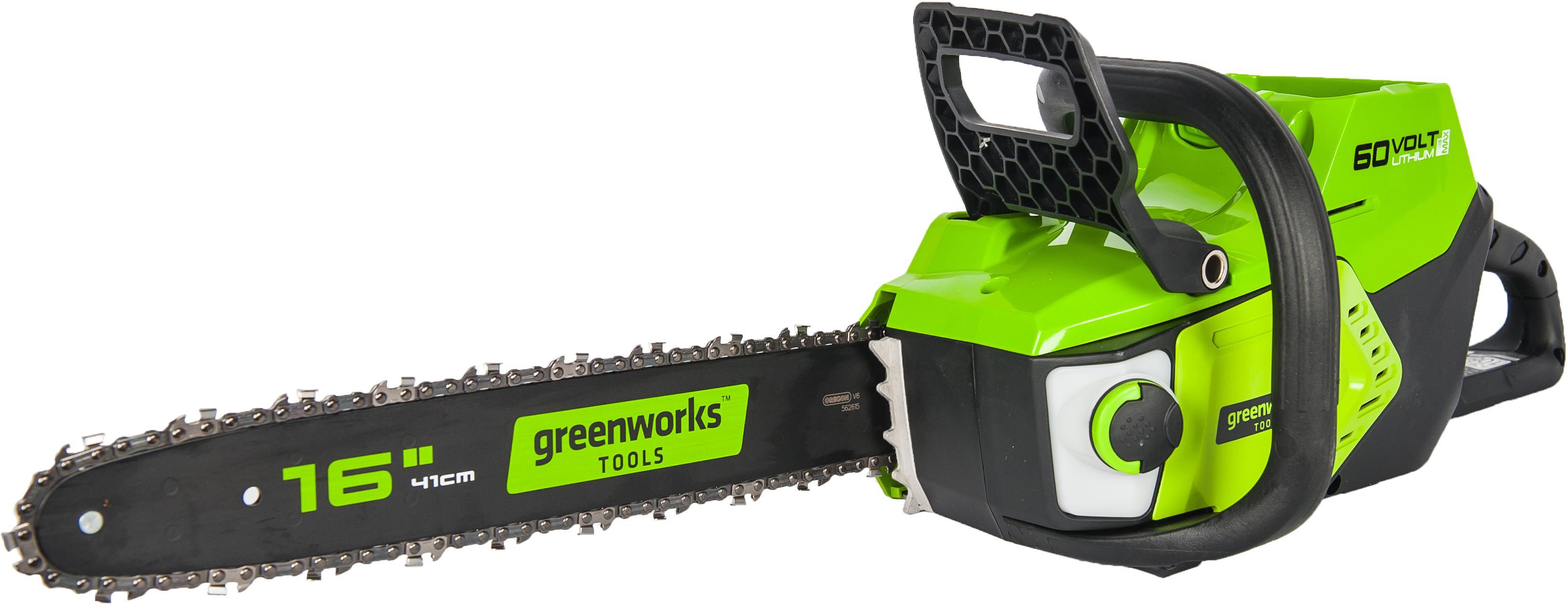 цена на Пила цепная аккумуляторная Greenworks Gd60cs40 (2001807) БЕЗ АККУМ и ЗУ
