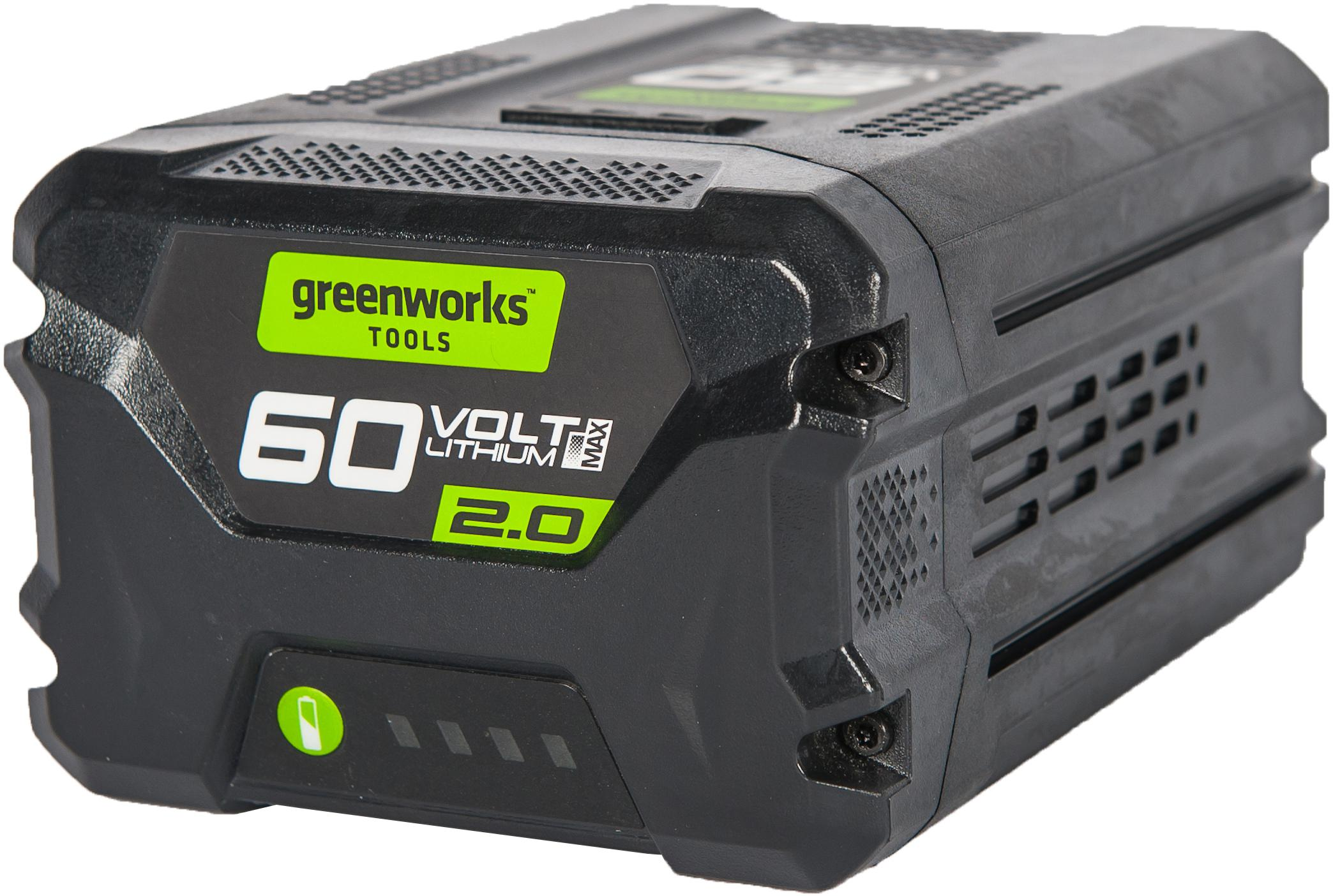 Аккумулятор Greenworks G60b2 (2918307) БЕЗ ЗУ аккумулятор greenworks g40b2