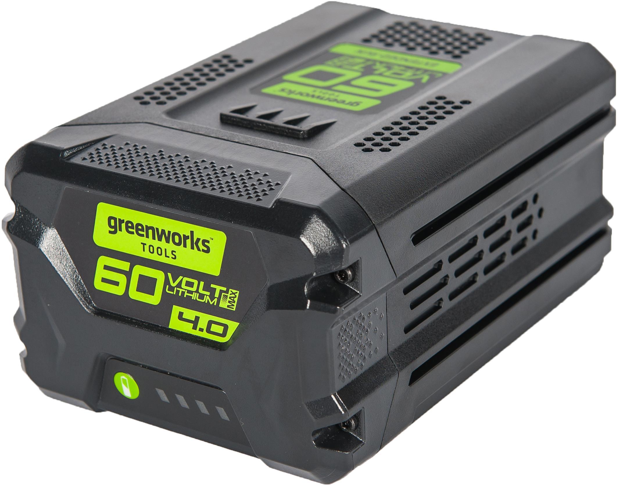 Аккумулятор Greenworks G60b4 (2918407) БЕЗ ЗУ аккумулятор greenworks g40b2