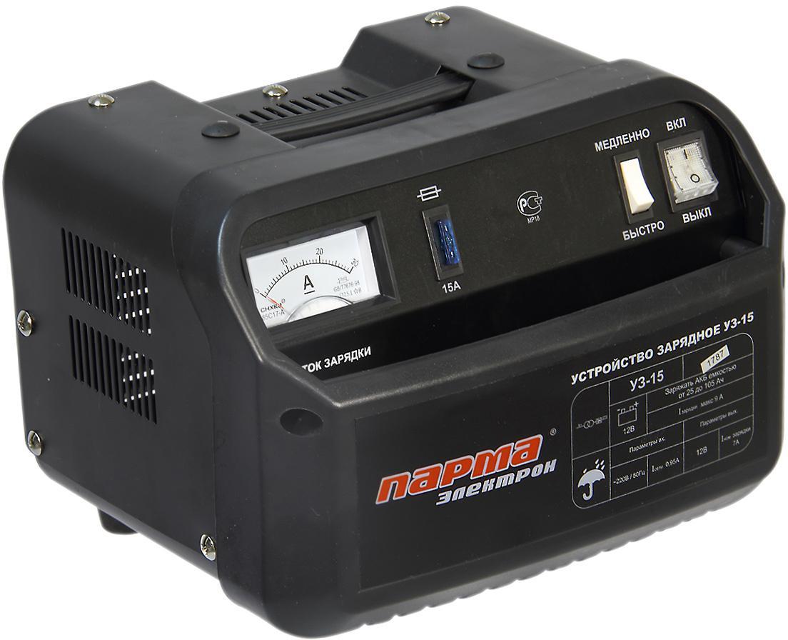 Зарядное устройство ПАРМА Электрон УЗ-15  зарядное устройство для автомобильного аккумулятора elitech уз 15
