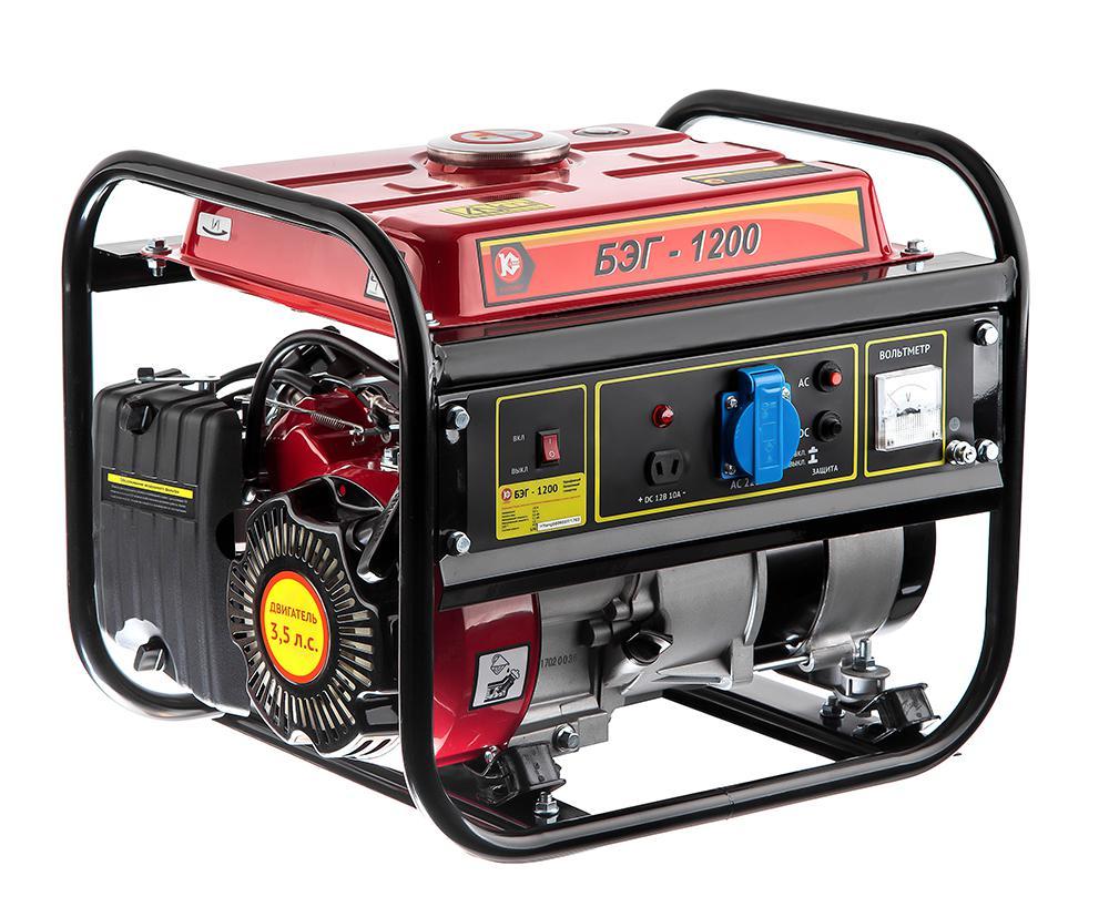 Бензиновый генератор КАЛИБР БЭГ-1200 генератор калибр бэг 5500а