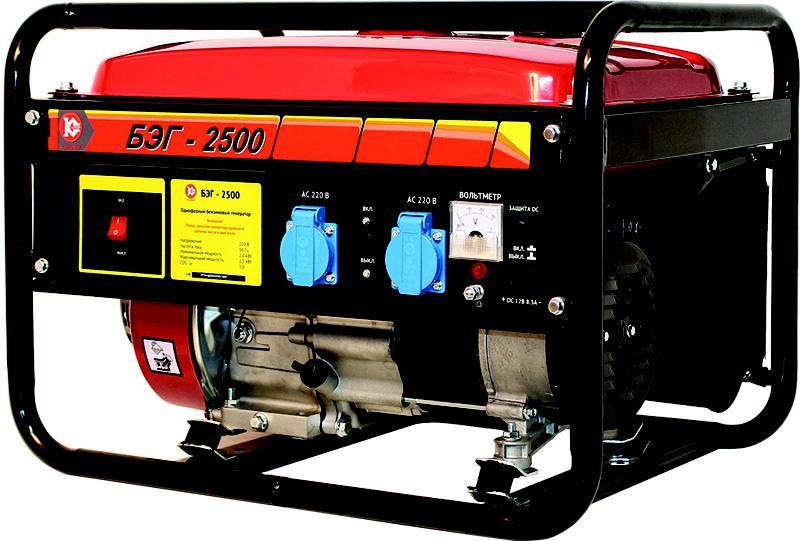 Бензиновый генератор КАЛИБР БЭГ-2500