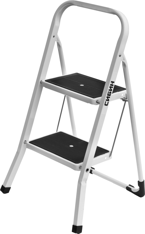 лестница тумба brauberg 2 ступени 43см серый 2 7кг Лестница СИБИН 38807-02