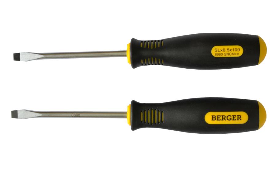 Отвертка Berger Bg1041 отвертка шлицевая berger bg1041 4x100мм