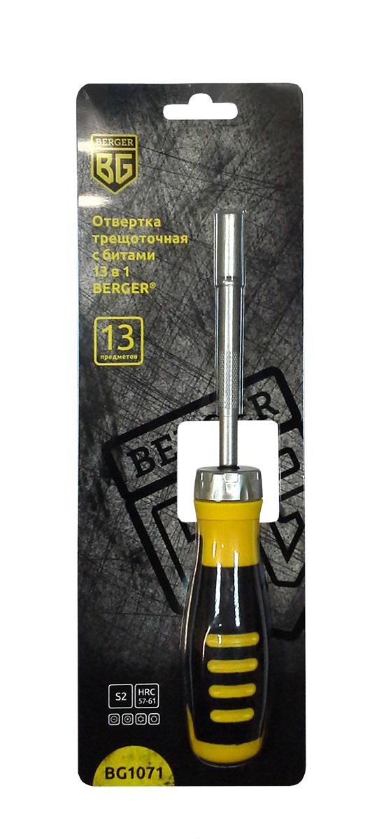 Отвертка Berger Bg1071 набор т образная отвертка с битами 15шт berger bg bg1070