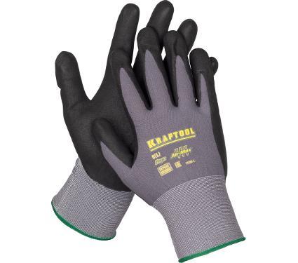 Нейлоновые перчатки с нитриловым покрытием KRAFTOOL 11285
