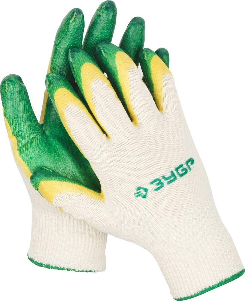 Перчатки ЗУБР 11459 gangxun зеленый цвет l