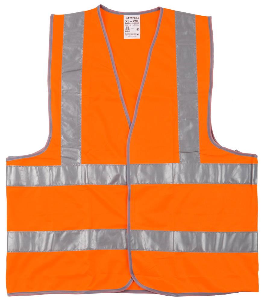 Жилет Stayer 11621 сигнальный жилет сибртех оранжевый xxl 89514