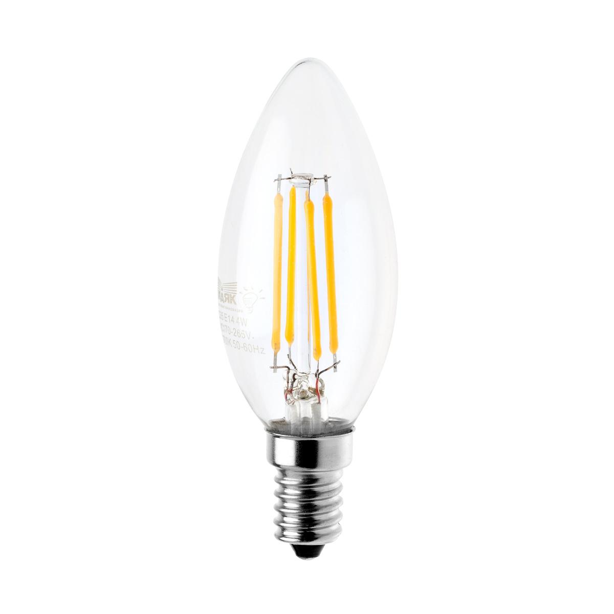 Лампа светодиодная МАЯК Led-c35f/4w/2700 лампа ультрафиолетовая f 4w bl368 g5
