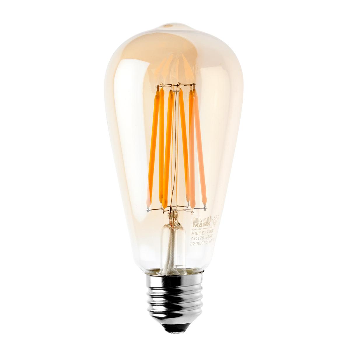 Лампа светодиодная МАЯК Led-st64df/8w/2200
