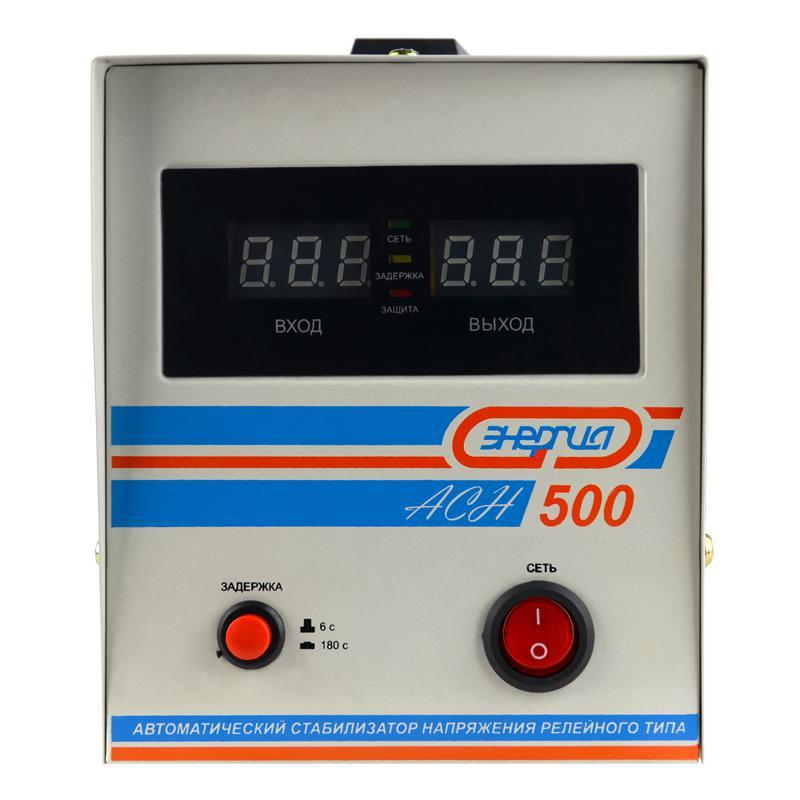 Стабилизатор напряжения ЭНЕРГИЯ АСН-500 однофазный стабилизатор напряжения энергия асн 500