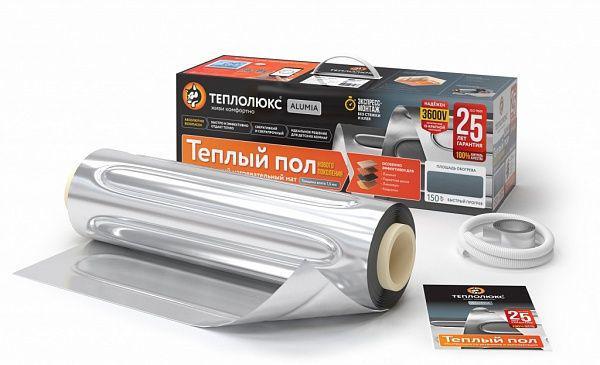 Теплый пол ТЕПЛОЛЮКС Alumia 1500-10.0 теплый пол теплолюкс profimat160 7 0