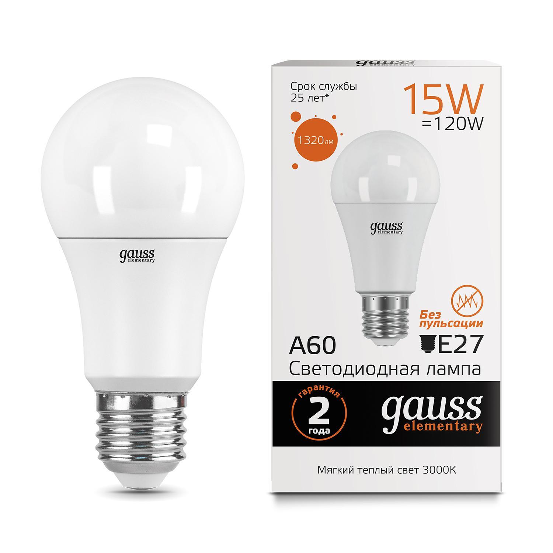 Лампа светодиодная Gauss Led elementary 23215 лампа светодиодная gauss ld33226