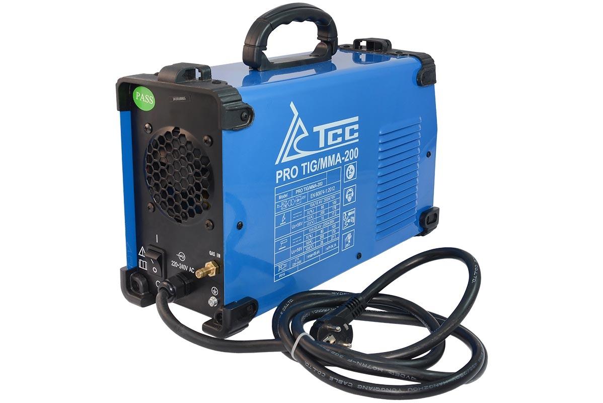 Сварочный аппарат ТСС Pro tig/mma-200 сварочный аппарат сварог pro tig 200 p dsp w212