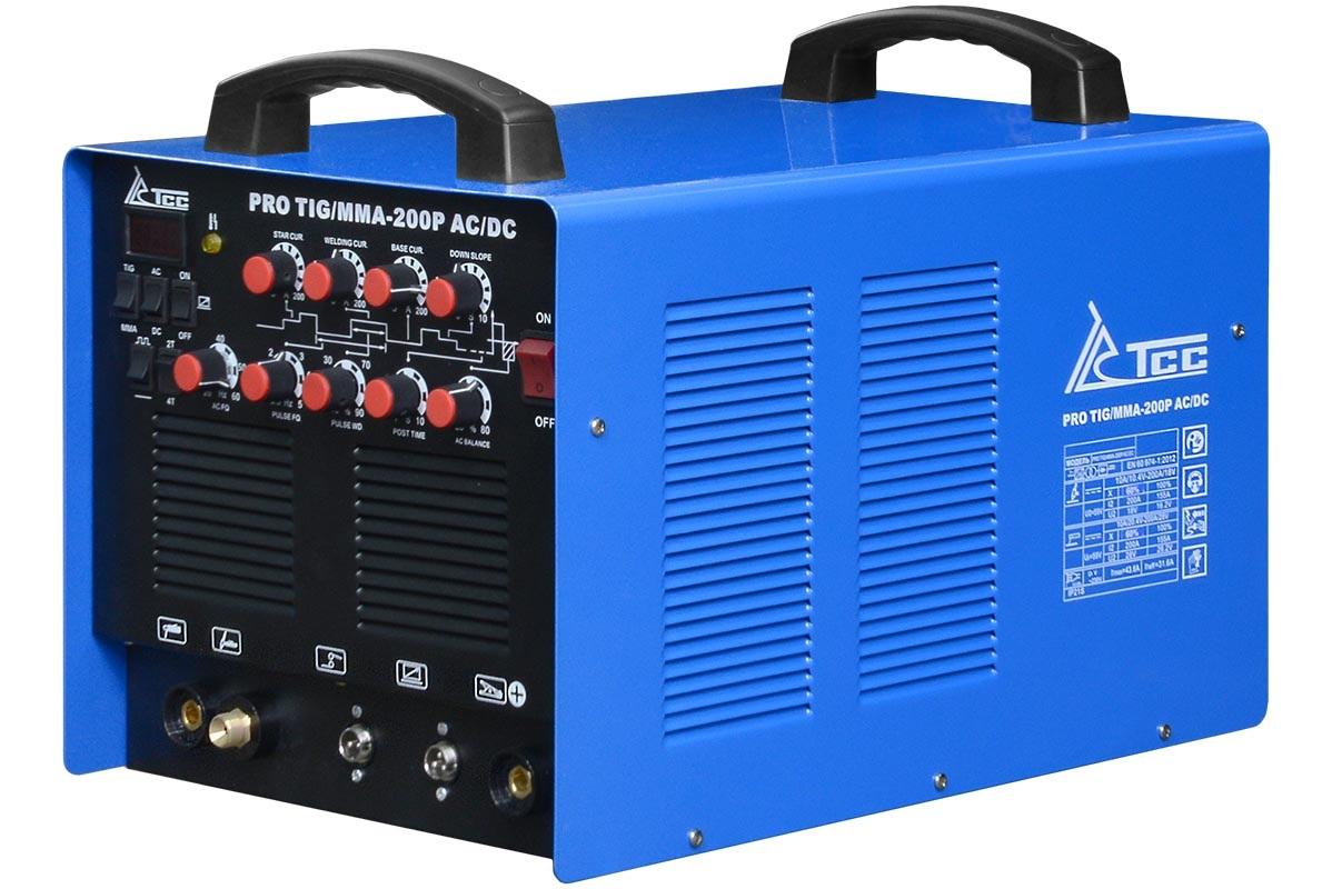 Сварочный аппарат ТСС Pro tig/mma-200pac/dc аппарат аргонодуговой сварки aurora pro inter tig 250 tig mma