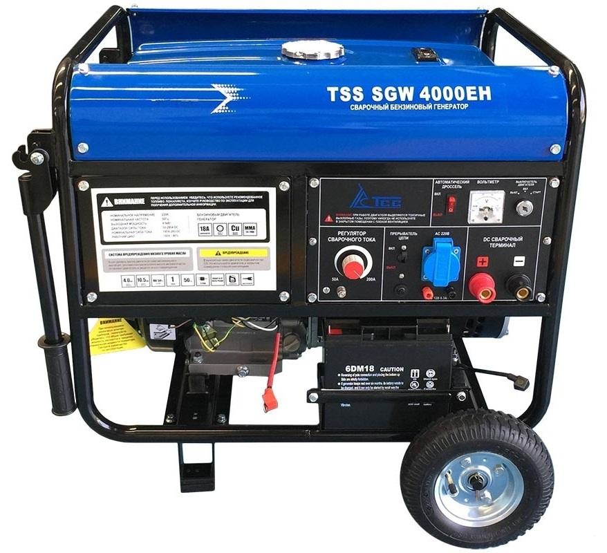 Бензиновый генератор ТСС Tss sgw 4000eh виброплита тсс tss vp60s 207246