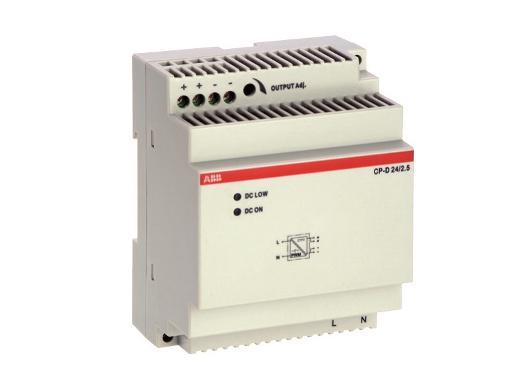 Блок питания CP-D 24/2.5 (регулир. вых. напряж) вход 90-265В AC / 120-370В DC, выход 24В DC /2.5A ABB 1SVR427044R0200