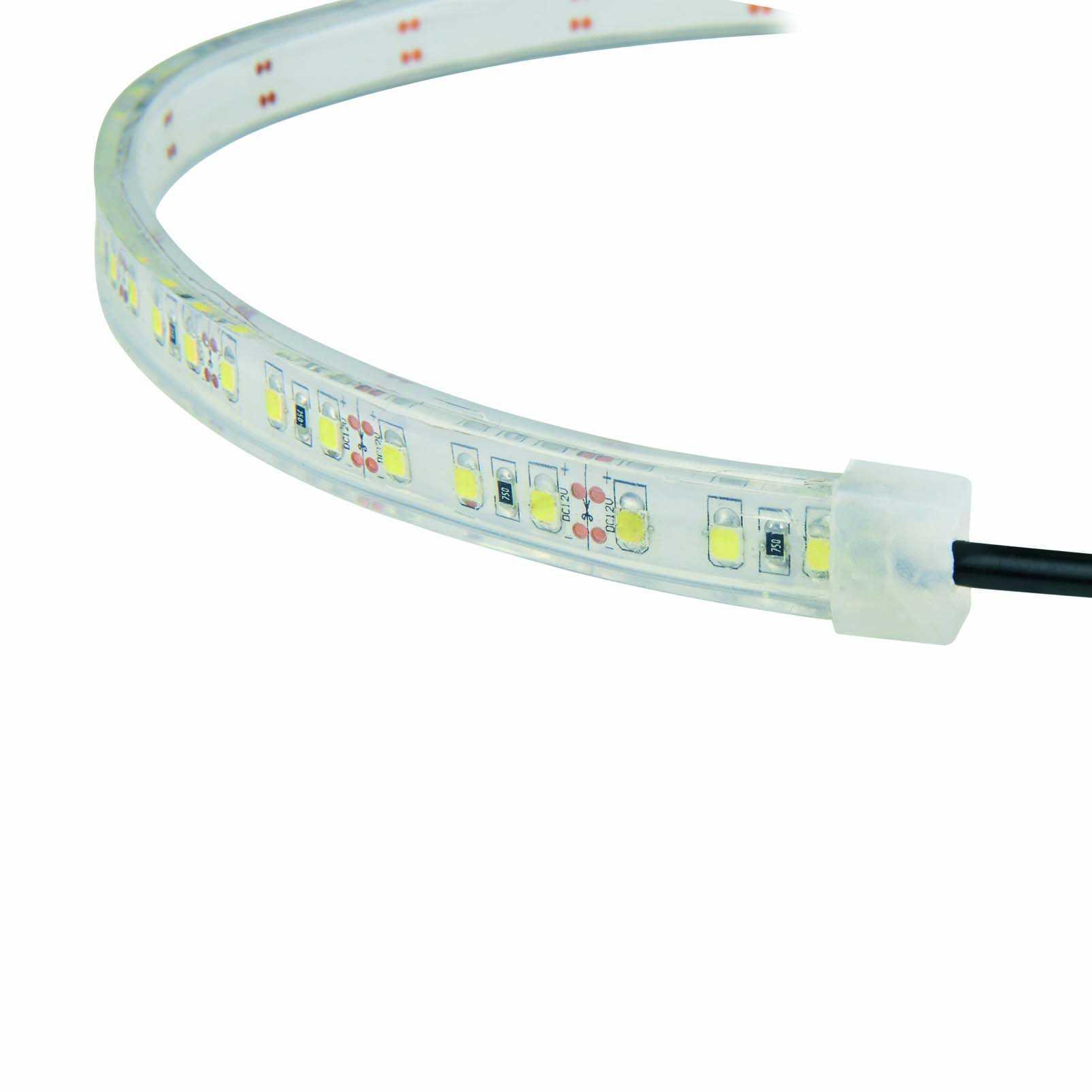 где купить Лента светодиодная Uniel Uls-2835-60led/m-8mm-ip65-dc12v-9,6w/m-5m-w дешево