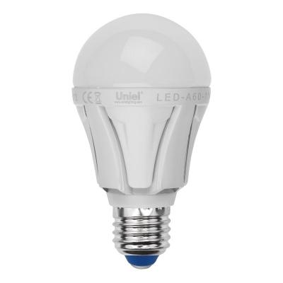 Лампа светодиодная Uniel Led-a60-11w/nw/e27/fr/dim plp01wh лампа светодиодная uniel led cw37 6w nw e14 fr dim plp01wh