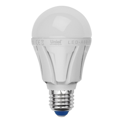 Лампа светодиодная Uniel Led-a60-11w/ww/e27/fr/dim plp01wh лампа светодиодная uniel led cw37 6w nw e14 fr dim plp01wh